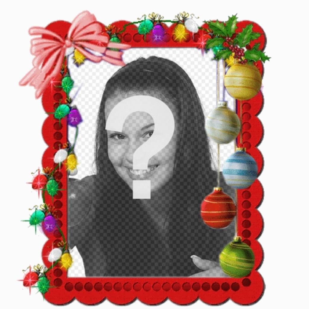 Weihnachtskarte mit Weihnachtsbeleuchtung Animation, wo können Sie legte ein Foto online