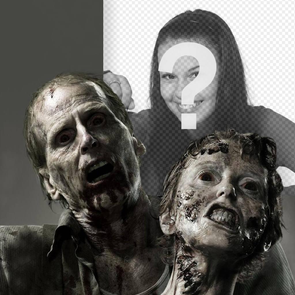 Fotomontage des Terrors mit Zombies mit Ihrem Foto