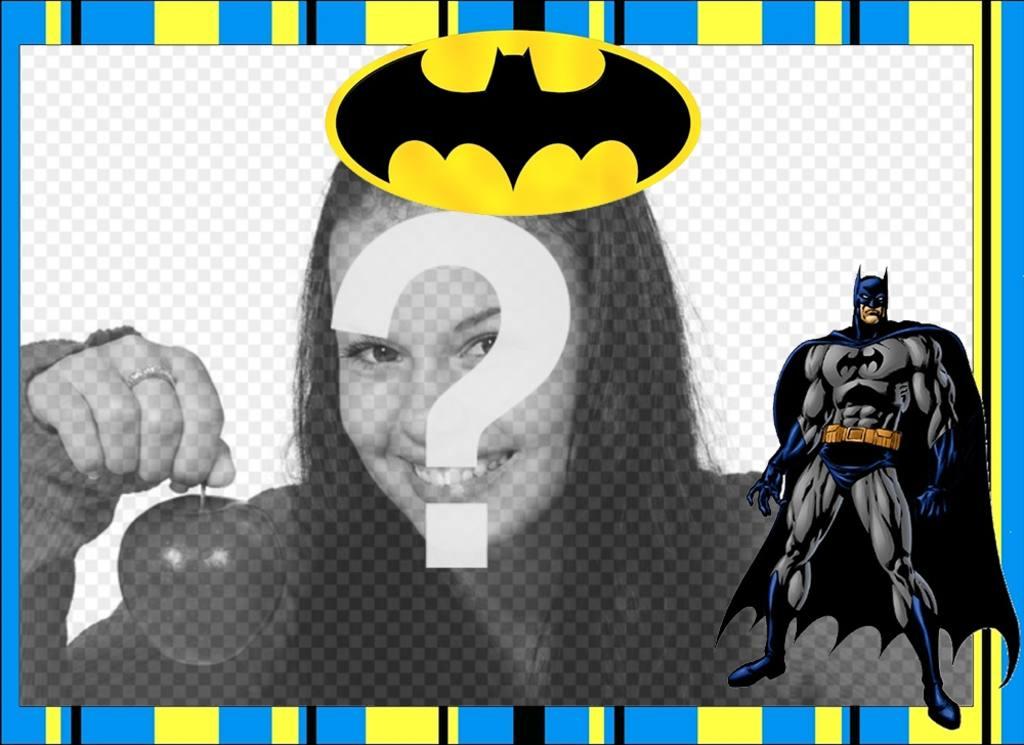 Batman-Rahmen mit Ihren Fotos kostenlos - Photoeffekte