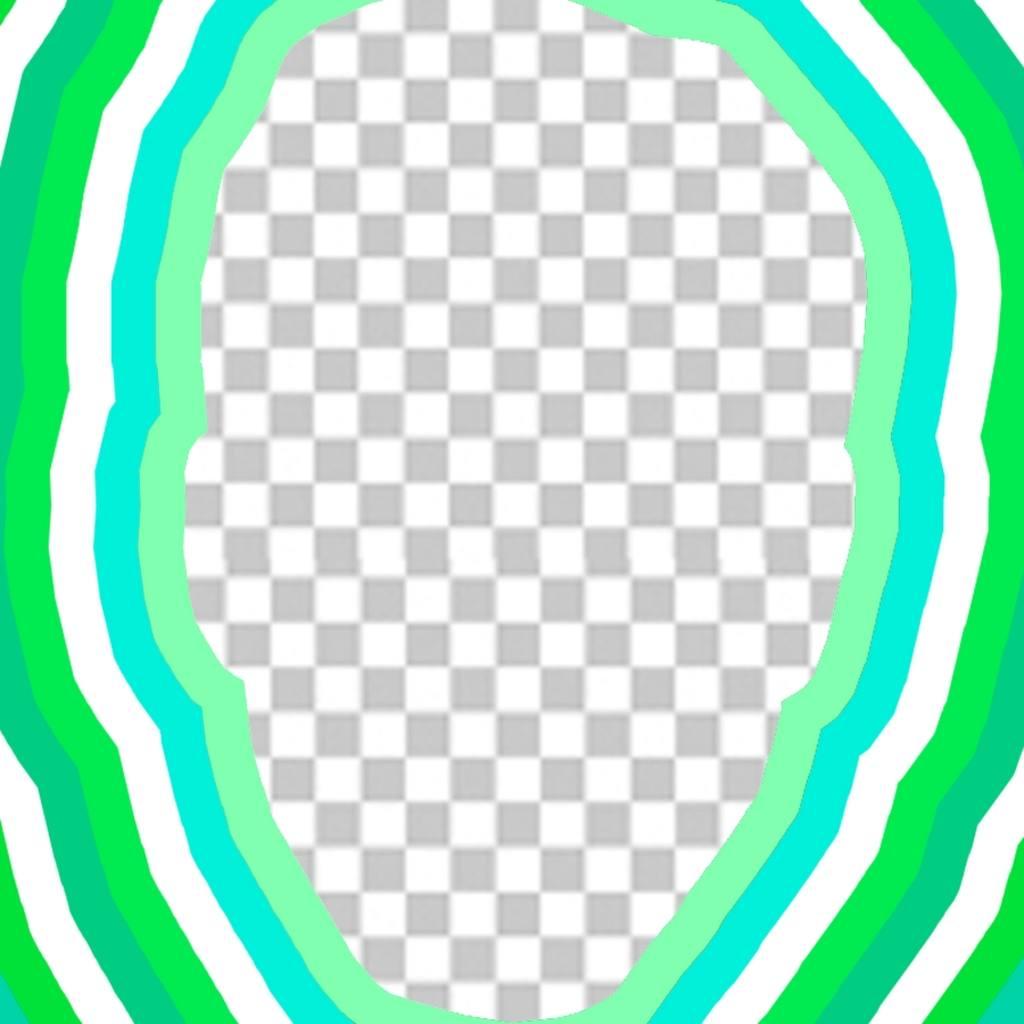 Foto-Effekt Ihr Gesicht hinzufügen mit grünen Wellen um mit einem ...