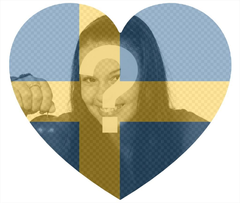 schweden flagge herz als filter geformt um ihre fotos zu photoeffekte. Black Bedroom Furniture Sets. Home Design Ideas