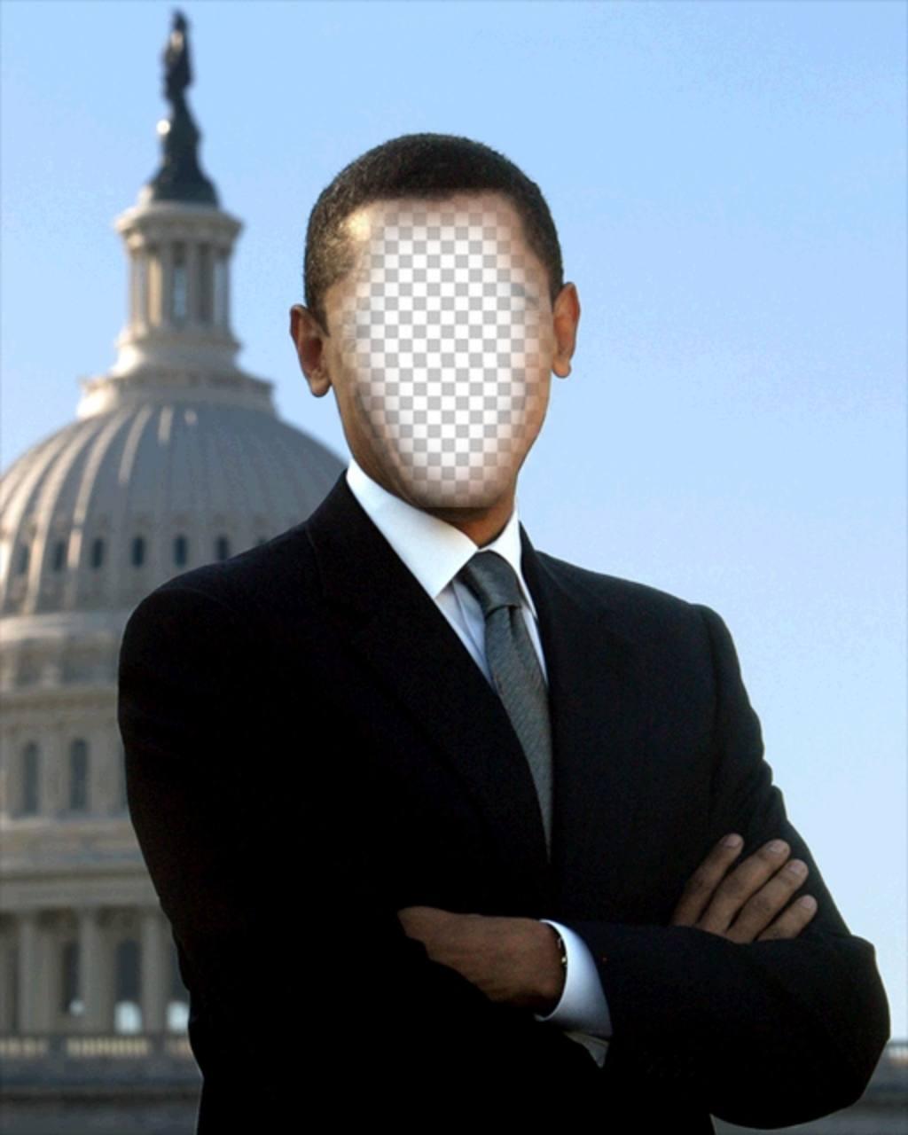 Fotomontage von Barack Obama, Präsident der USA zu setzen Sie Ihr Foto