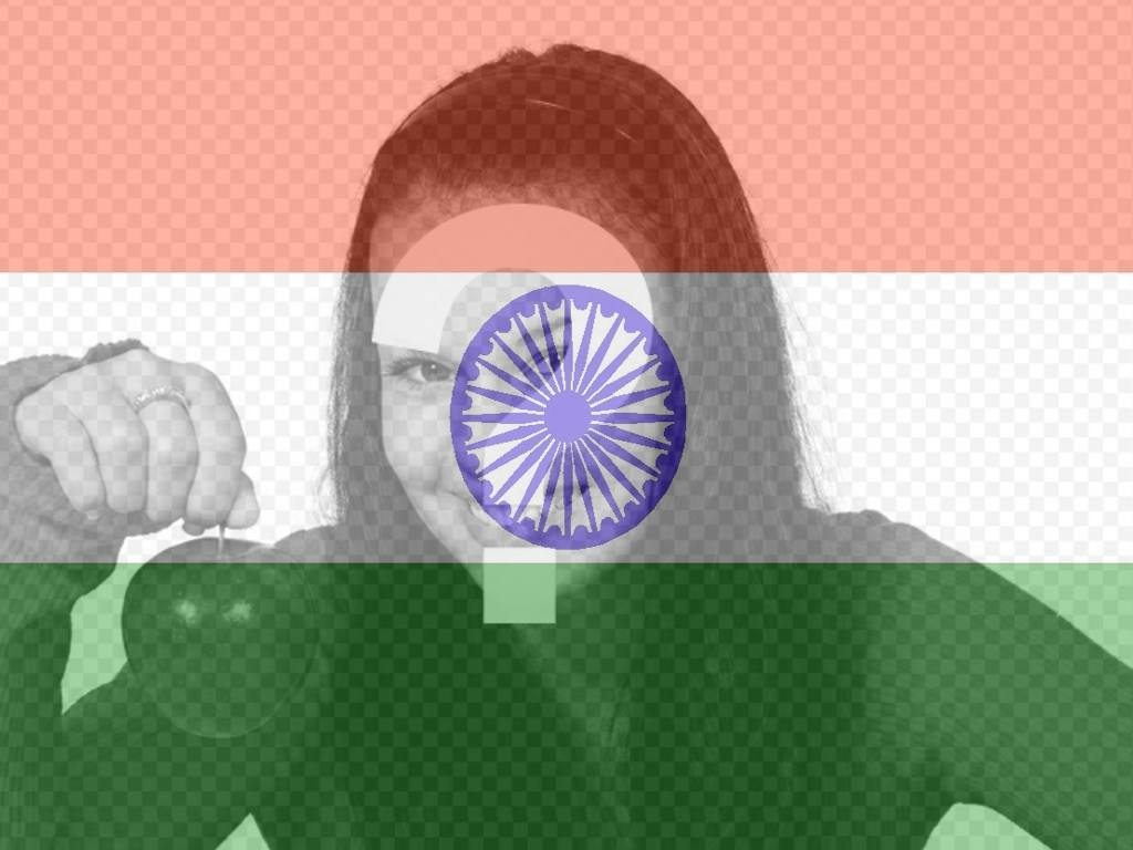 Flagge von Indien, zum Ihres Fotos als Filter einzusetzen