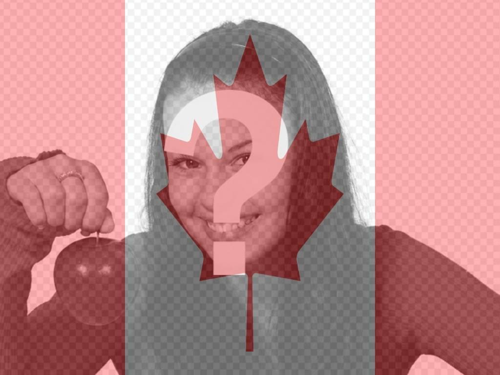 Fotomontage, die kanadische Flagge auf deinem Profilbild setzen