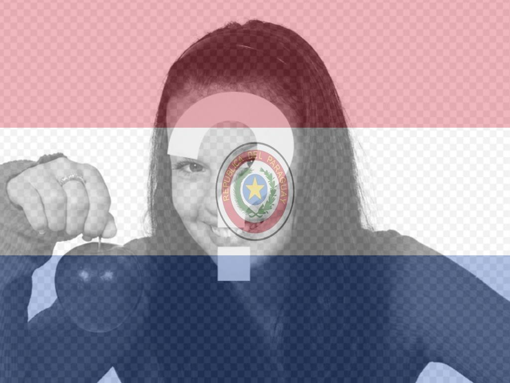 Online Fotomontage des Paraguay-Flagge mit Ihrem Foto