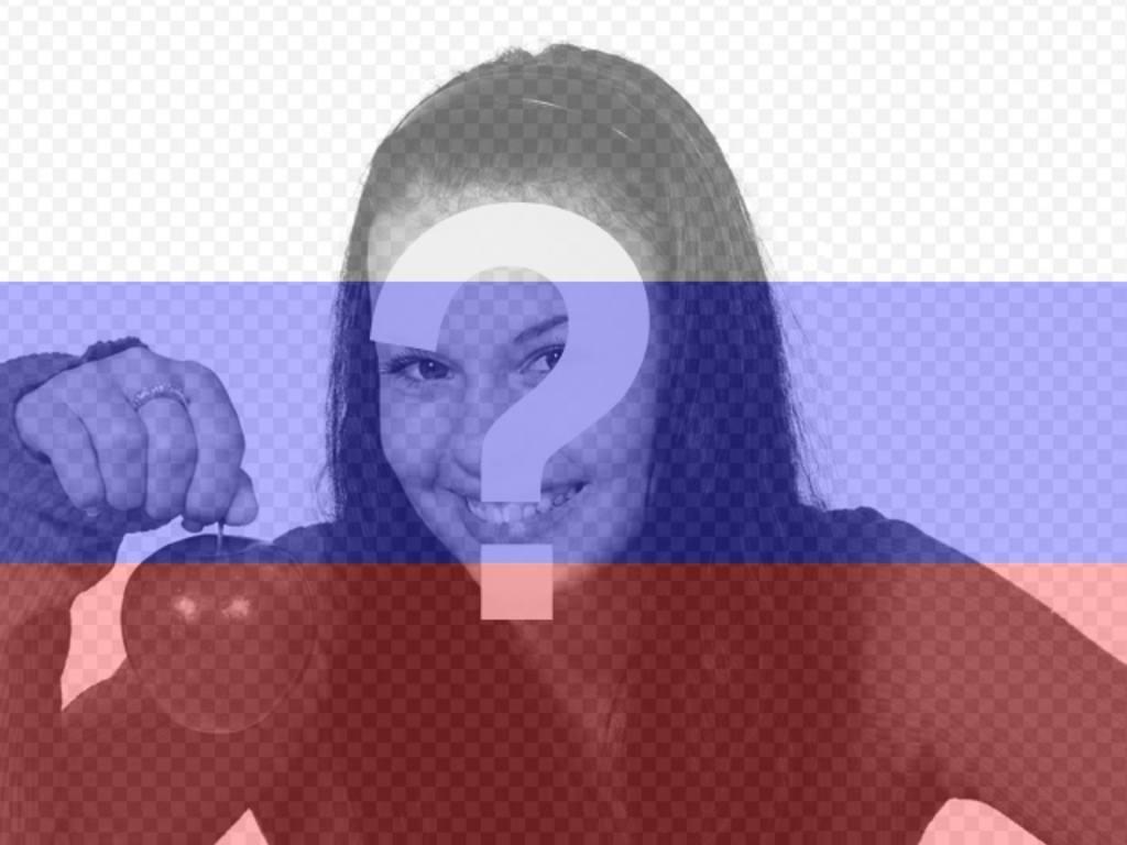 Erstellen Sie eine Fotomontage Online der russischen Flagge zusammen mit Ihrem Foto