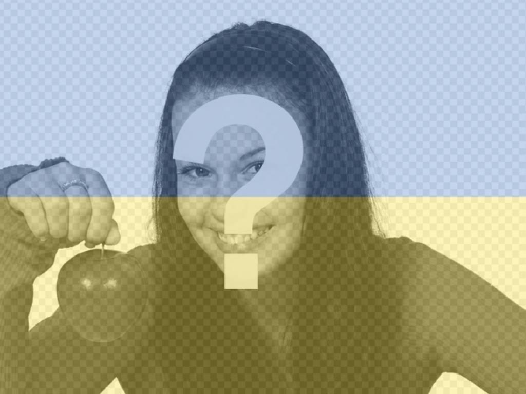 Collage der ukrainischen Flagge mit Ihrem Foto zu machen online. Perfekt für Ihren Avatar
