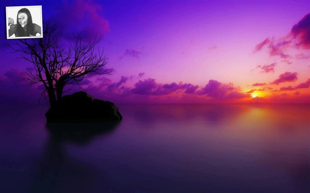 Sonnenuntergang, anpassbare Tapete für twitter mit Ihrem Foto
