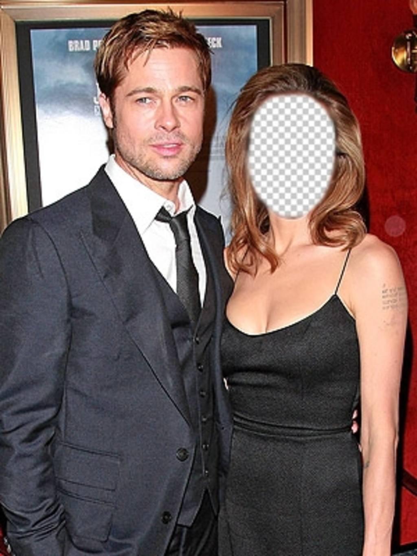 Effekt mit Ihrem Foto zu bearbeiten und sein Angelina Jolie mit Brad Pitt