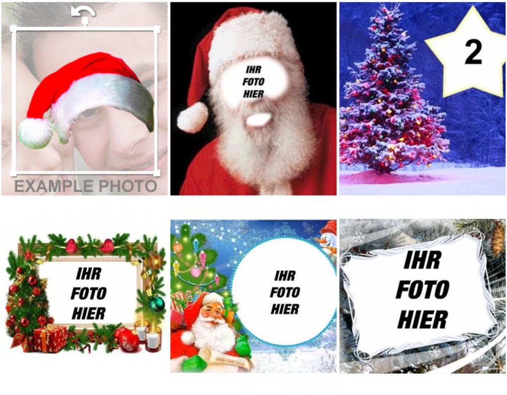 Weihnachtskarten Bilder Einfügen Kostenlos.Fotomontagen Und Bilderrahmen Für Weihnachten Photoeffekte