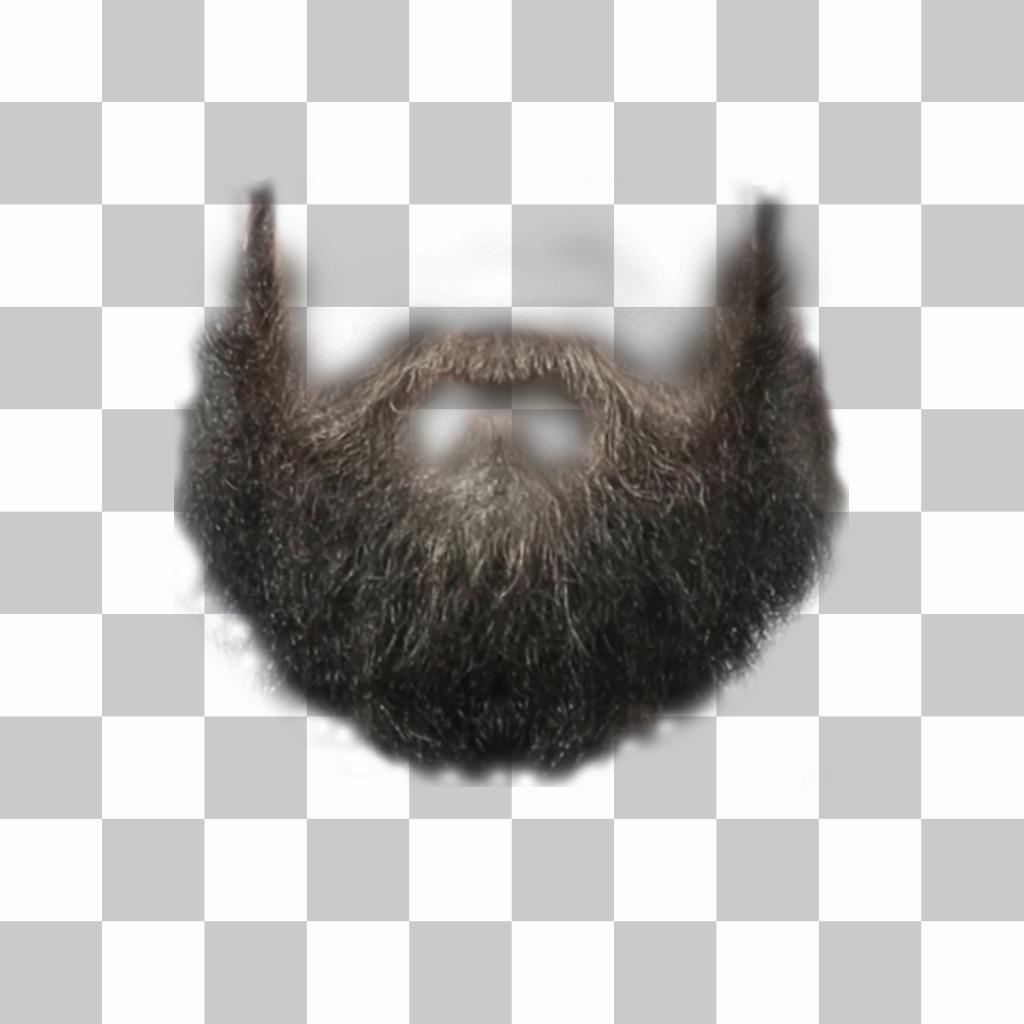Fotomontage, um Ihrem Foto einen Bart zu verleihen