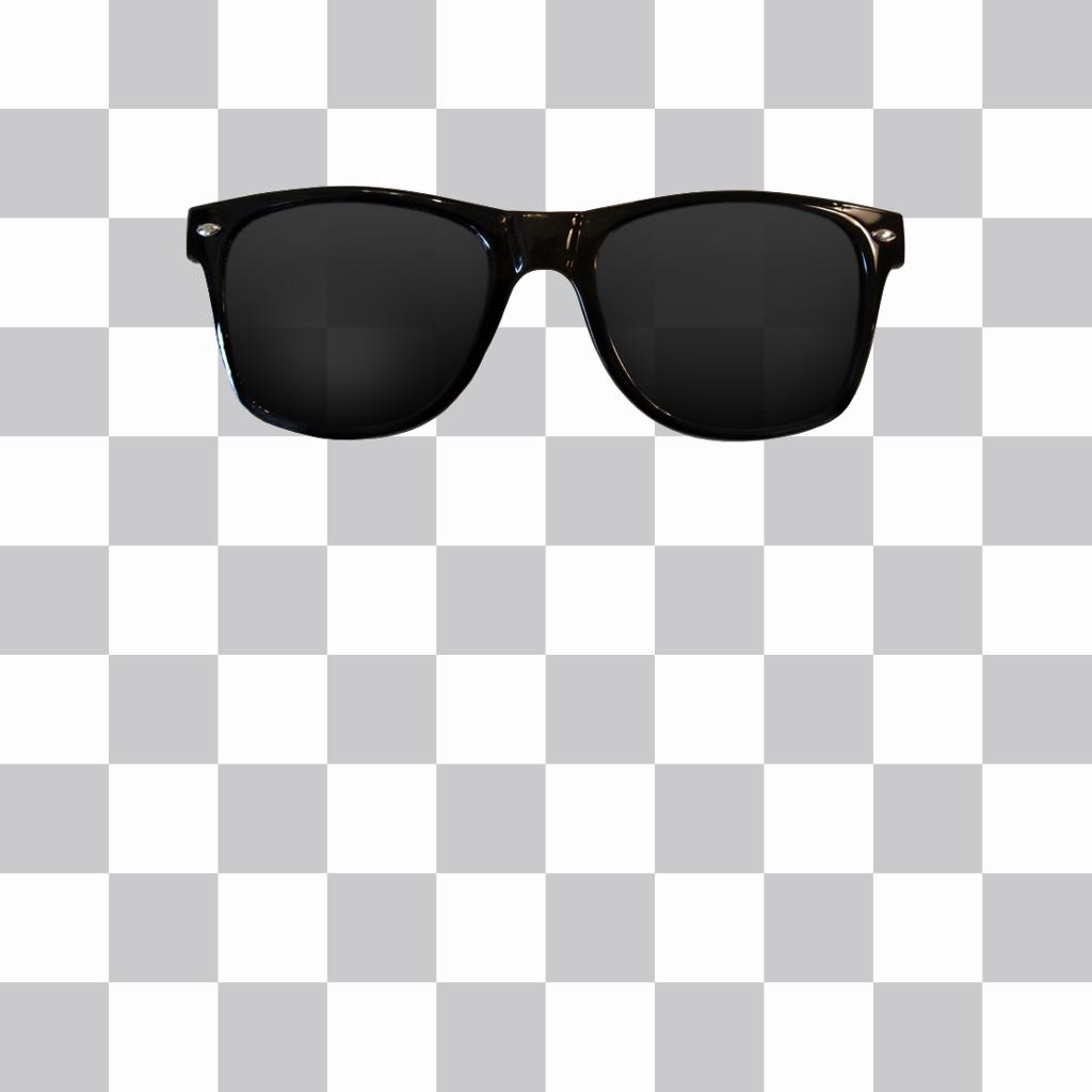 Aufkleber von Sonnenbrillen