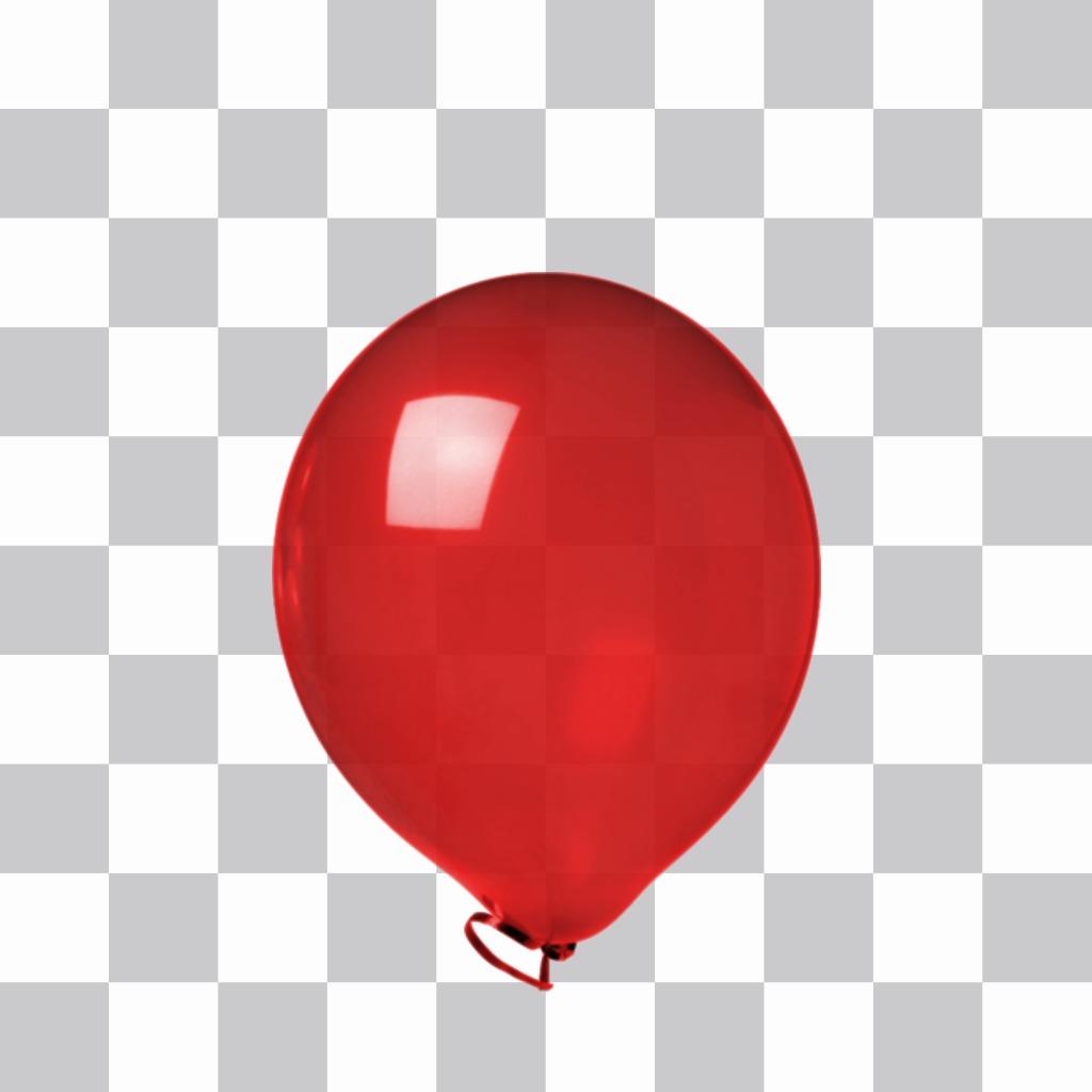 Aufkleber von einem roten glänzenden Ballons
