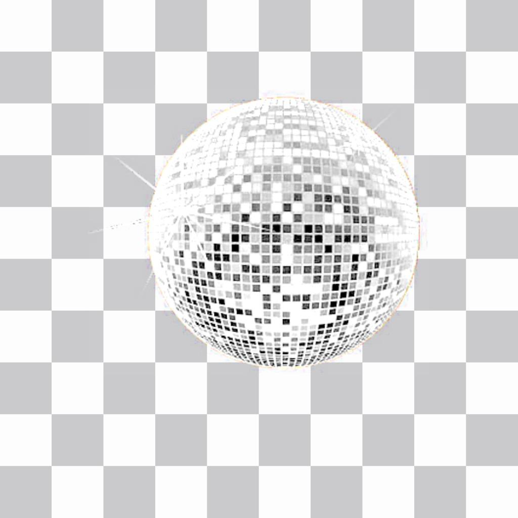Aufkleber von einer Disco-Kugel, um Ihre Fotos mit einer sehr festliche Atmosphäre zu schmücken
