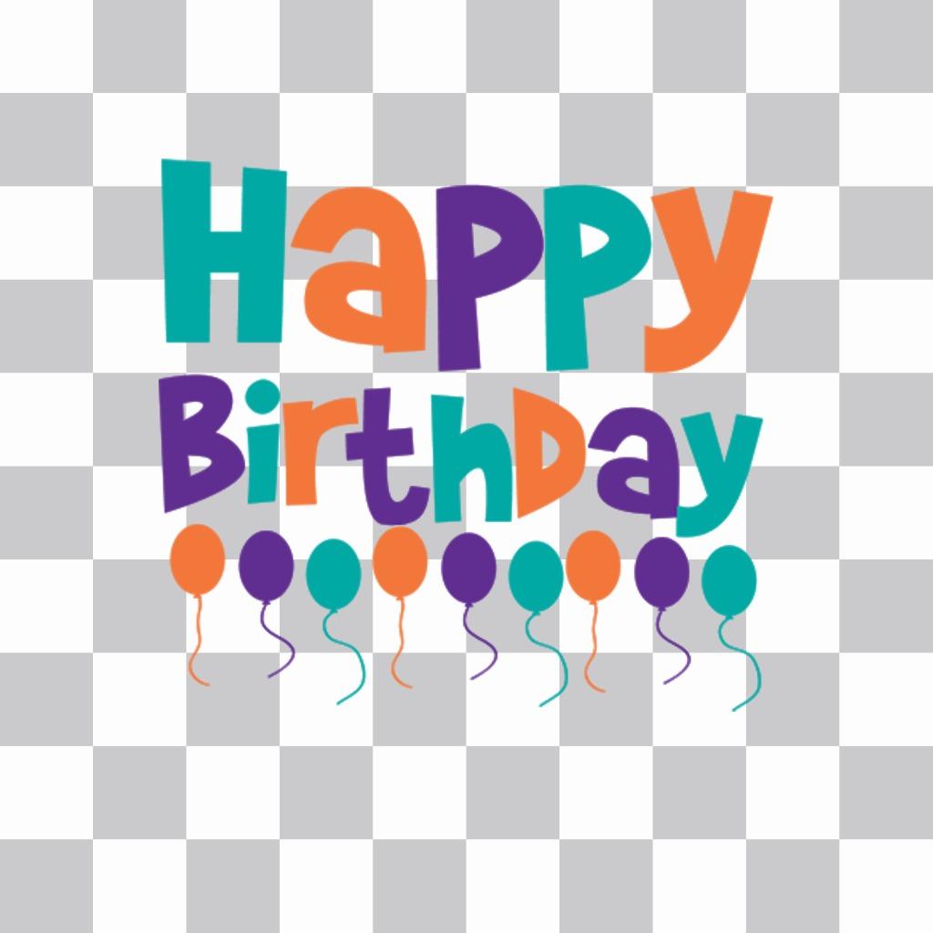 Aufkleber Von Alles Gute Zum Geburtstag Luftballons Kuchen Ihre
