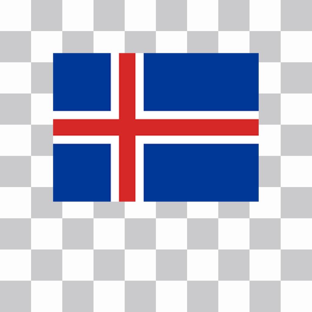 Wohnung Island-Flagge in Ihren Fotos hinzufügen und dekorieren Online-