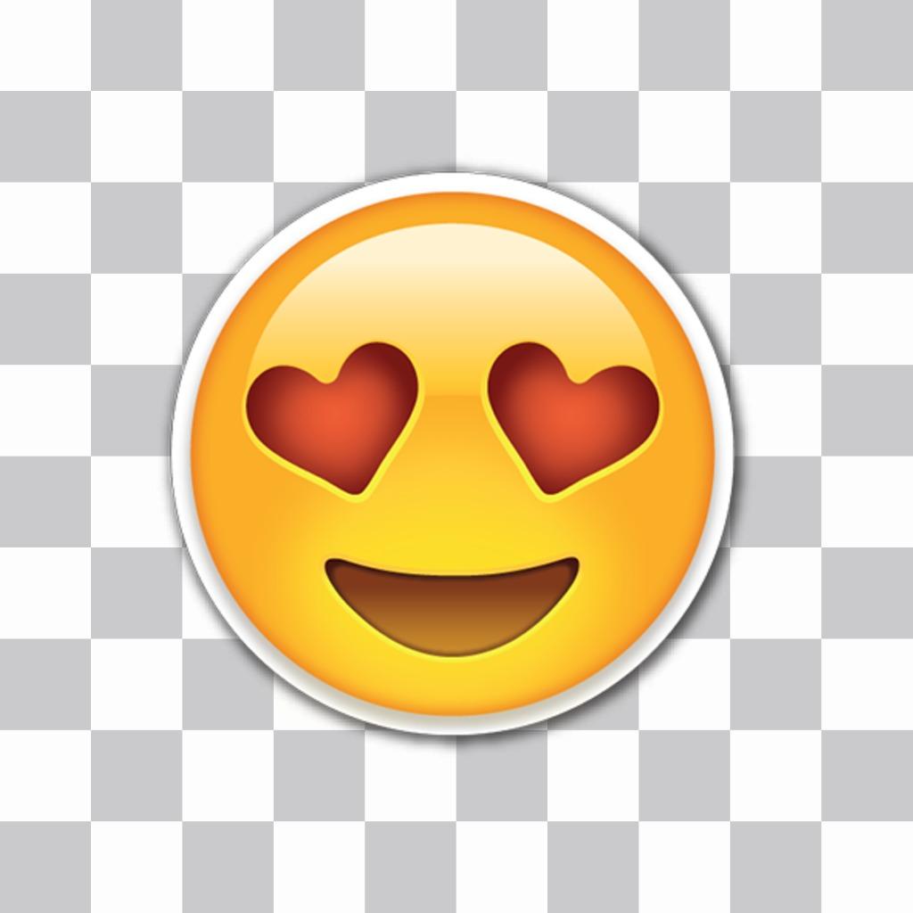 Editor zu setzen Emoji Liebe mit Herz Augen in meinen Fotos