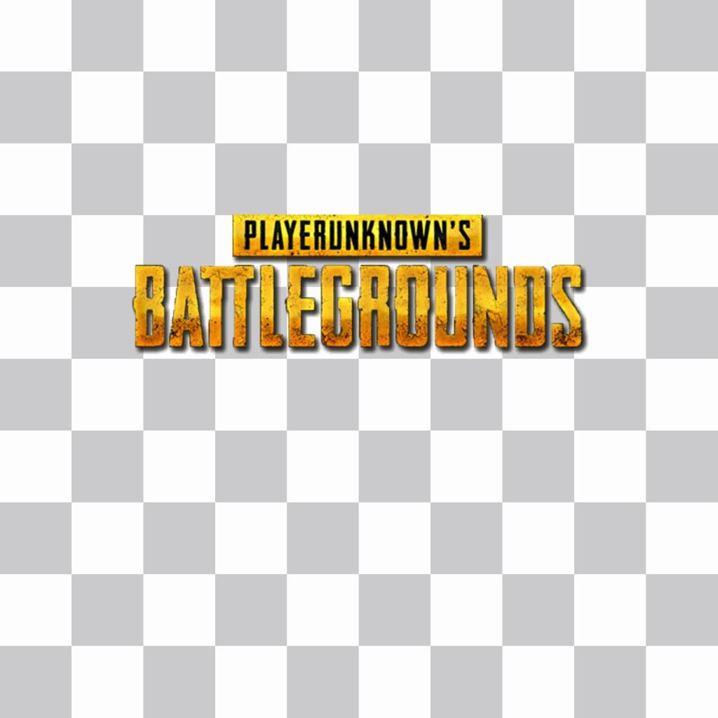 Setzen Sie das Logo des Players Unknown battlesgrounds auf Ihr Foto